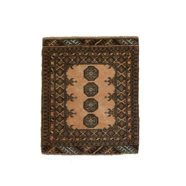 "Vintage Afghan Square Mat - 1'9"" X 2'1"" - Image 1 of 4"