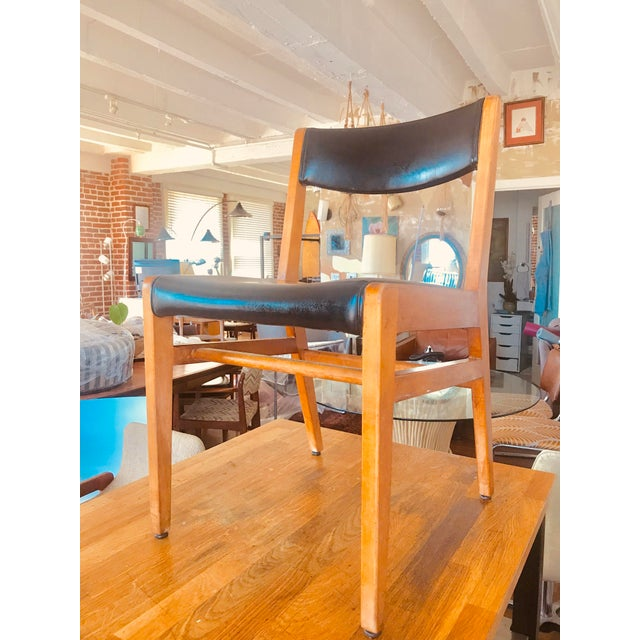 1980s Gun Locke Chair With Original Black Leather Upholstery For Sale - Image 5 of 12