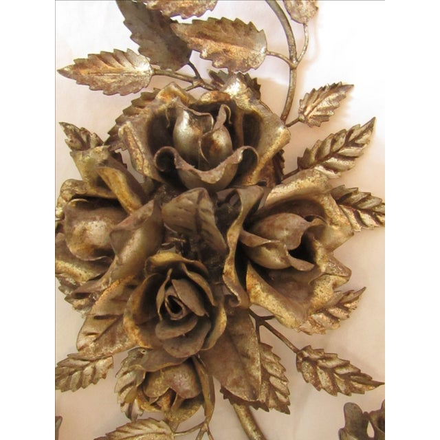 Antique Florentine Gilted Metal Candle Sconce - Image 3 of 5