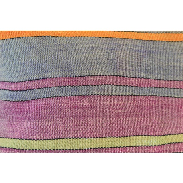 Vintage Turkish Striped Kilim Pillow Cover - Image 4 of 7