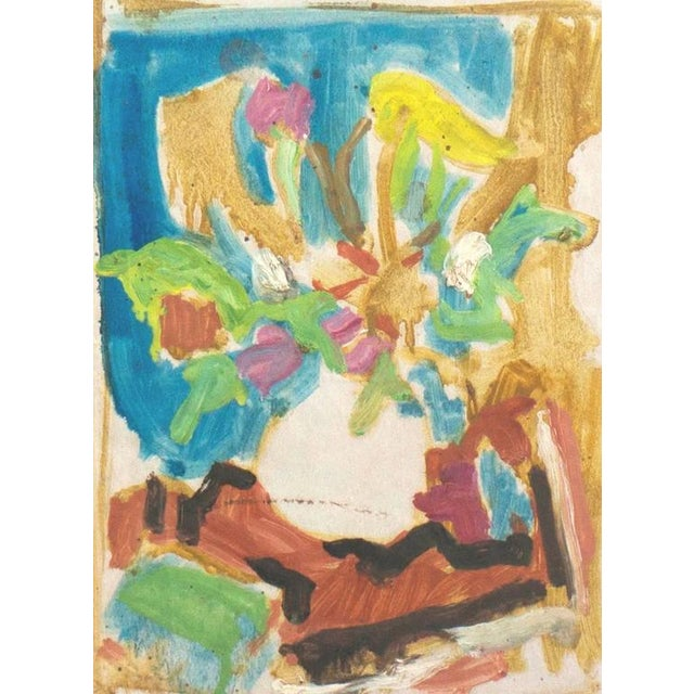 1950s 'Still Life of Spring Flowers' by Victor DI Gesu, Post-Impressionist California Artist, Louvre For Sale - Image 5 of 5