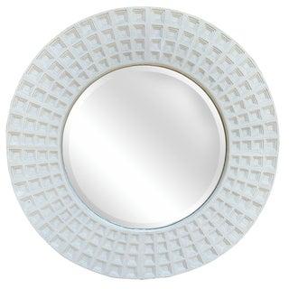 Enormous Round Grid-Motif Mirror, Circa 1980s For Sale