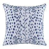 Image of Curated Kravet Les Touches Embroidered Pillow - Indigo For Sale