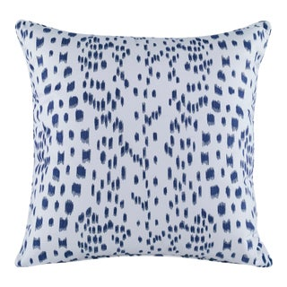 Curated Kravet Les Touches Embroidered Pillow - Indigo For Sale