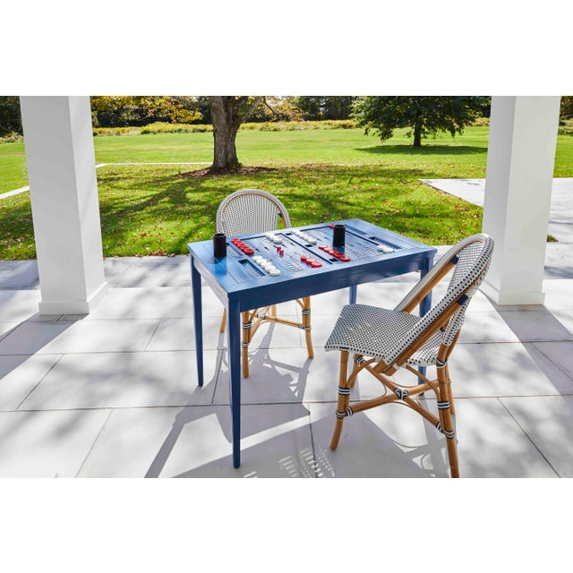 American Oomph Backgammon Outdoor Table, White For Sale - Image 3 of 7
