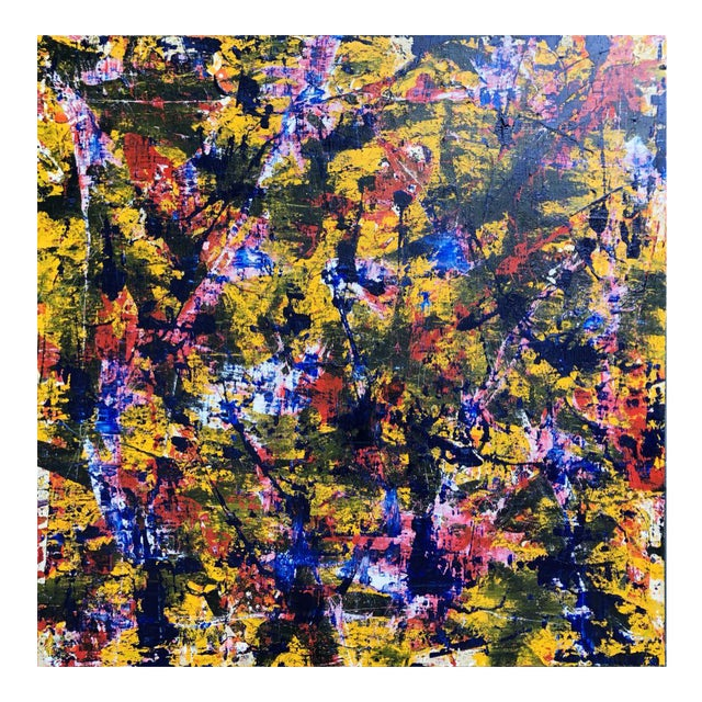 """Acrylic Painting by Artist Troy Smith - 60"""" X 60"""" Contemporary Art - Abstraction For Sale"""