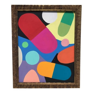 Framed Original Abstract Painting