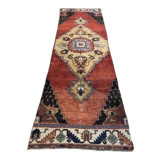 1960s Turkish Wool Floor Hallway Runner For Sale