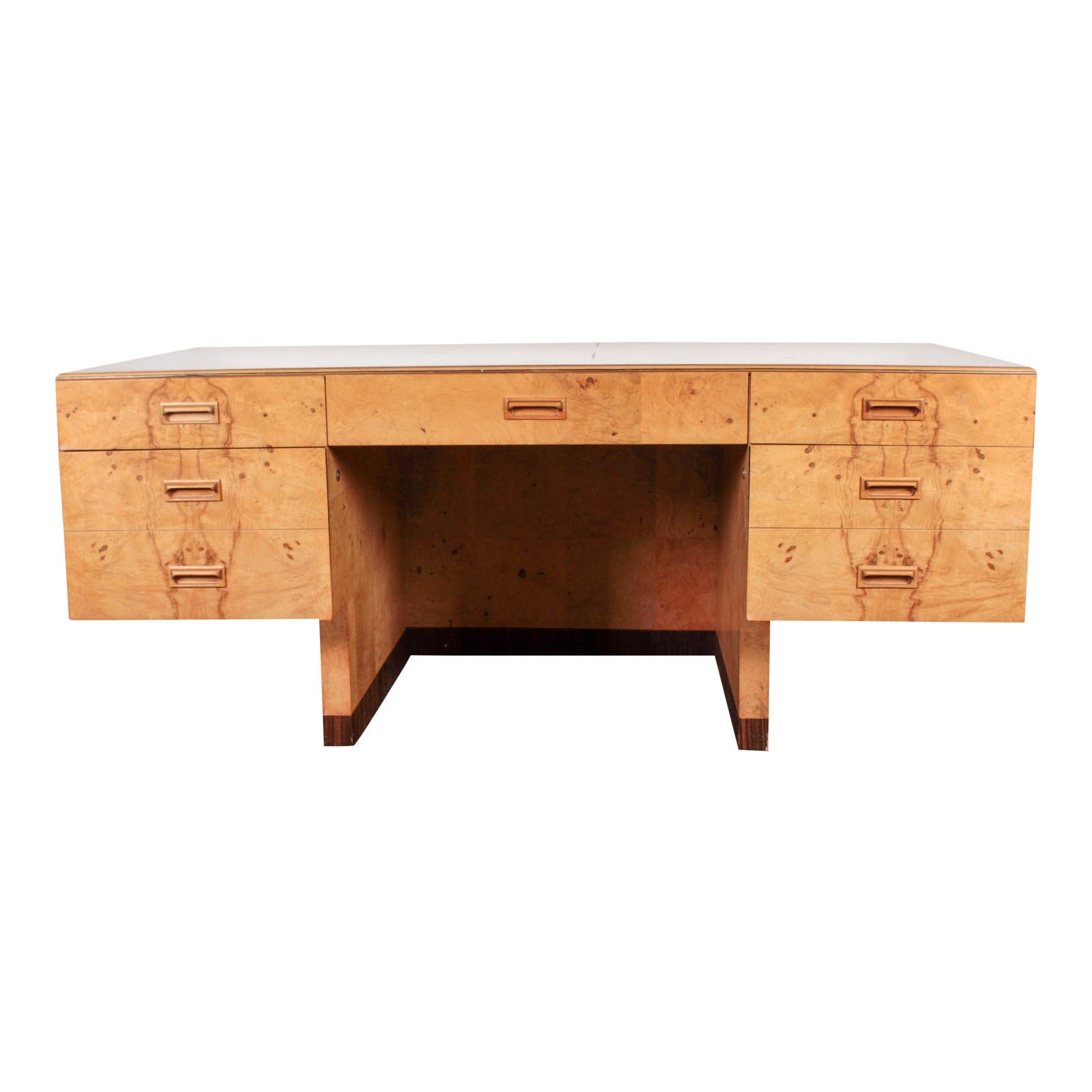 Paul Evans Henredon Mid Century Olive Burl Desk Chairish