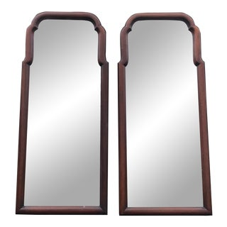Henkel Harris Mahogany Wall Mirrors- a Pair For Sale