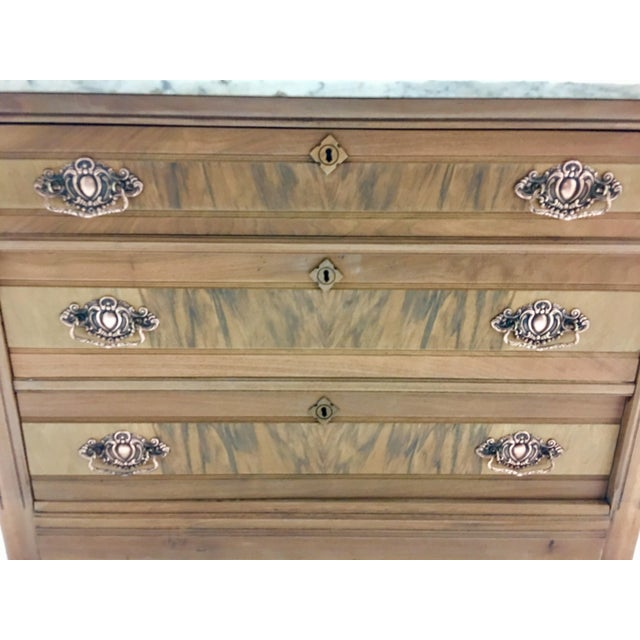 19th C. Mahogany & Marble Chest For Sale - Image 9 of 11