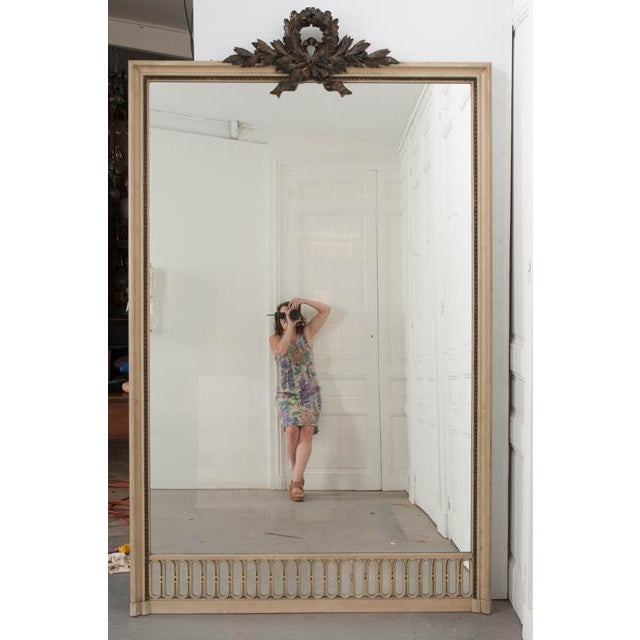 French 19th Century Tall Painted Mantle Mirror For Sale - Image 9 of 10