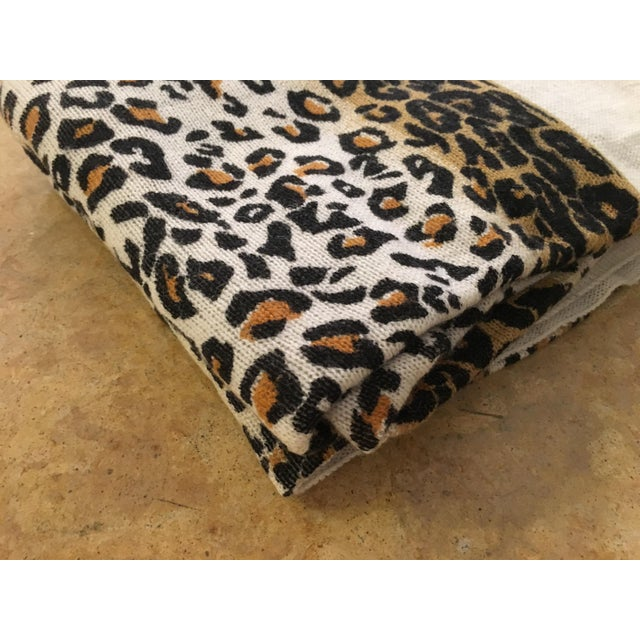 Large Thin Leopard Cashmere Throw - Image 10 of 10