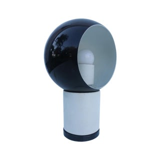 Valenti & Co. Italian Mod White & Black Table Lamp