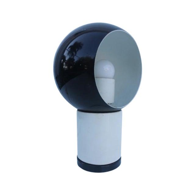 Valenti & Co. Italian Mod White & Black Table Lamp - Image 1 of 9