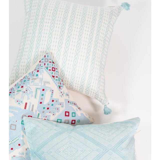 Mexican Serenity Blue Handwoven Pillow - Image 7 of 7