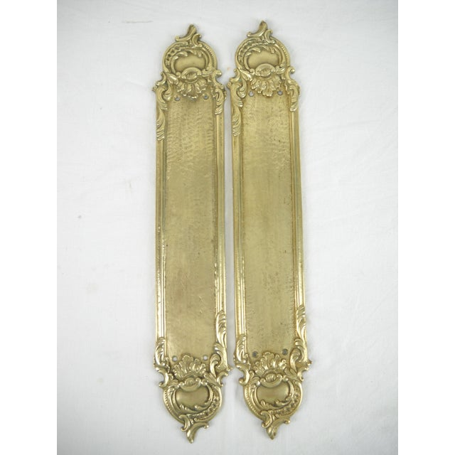 Brass Rococo-Style Door Push Plates - A Pair - Image 7 of 7