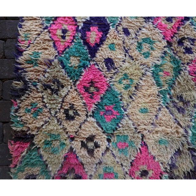 Vintage Moroccan Teal & Purple Talsint Rug