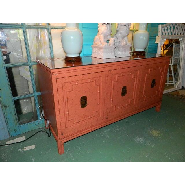 Vintage Ficks Reed Coral Sideboard - Image 10 of 11