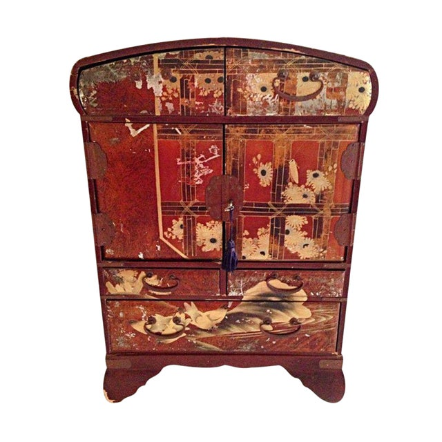Antique Japanese Jewelry Cabinet - Antique Japanese Jewelry Cabinet Chairish