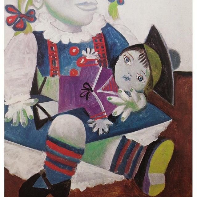 Pablo Picasso Picasso Portrait De Maya à La Poupée, 1971 Parisian Photogravure For Sale - Image 4 of 9