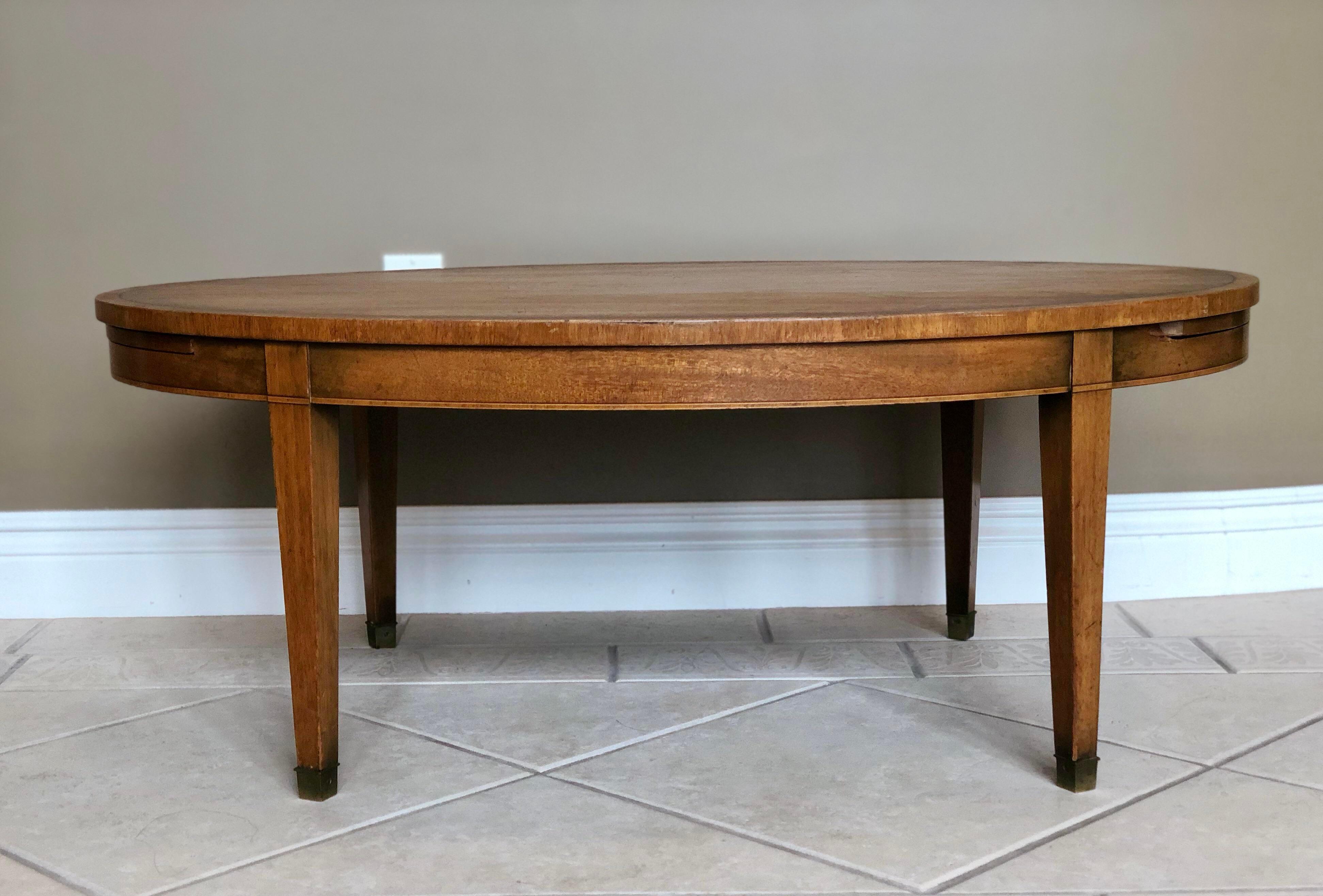 1960s Mid Century Kittinger Oval Wood Coffee Table