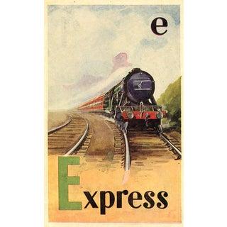 Vintage British Train Alphabet Print - Letter E For Sale