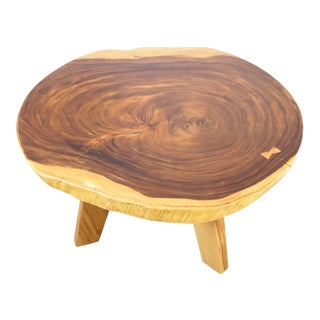 Suar Wood Live Edge Dining Table For Sale