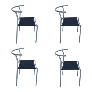Café Staking Chairs by Philippe Starck for Cerruti Baleri - Set of 4 For Sale