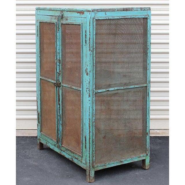 Teal Vintage Baker's Cabinet II - Image 3 of 5