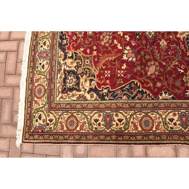 Tribal Vintage Turkish Handmade Wool Rug - 6′7″ × 9′10″ For Sale - Image 3 of 8