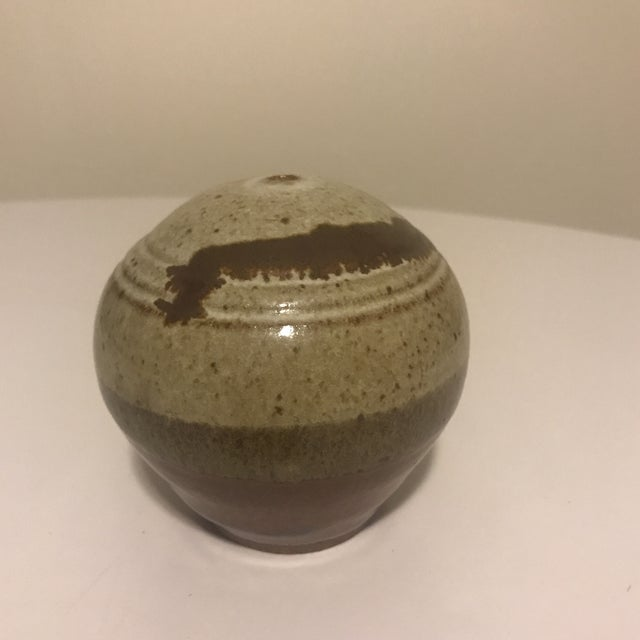 Contemporary Studio Pottery Vase For Sale - Image 3 of 6