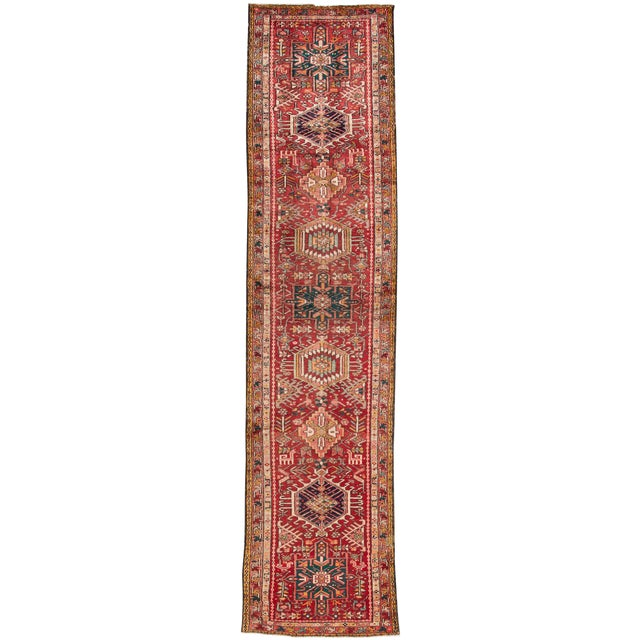 "Apadana - Vintage Persian Heriz Rug, 2'2"" x 12'11"" For Sale"