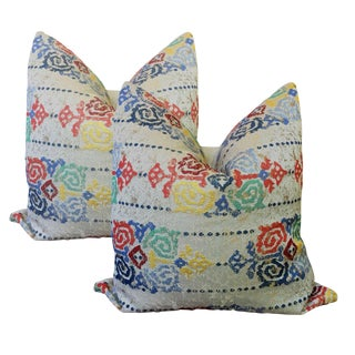 Linen Abstract Pillows - a Pair For Sale