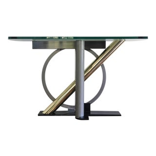 1980s Hollywood Regency Kaizo Oto for Dia Console Table For Sale
