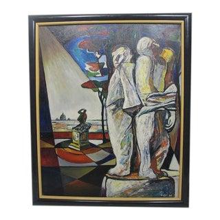 Original Giorgio Luppi Signed Oil Painting For Sale