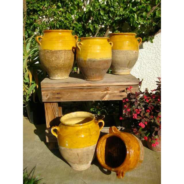 19th Century Country French Rustic Yellow Pot For Sale - Image 11 of 12
