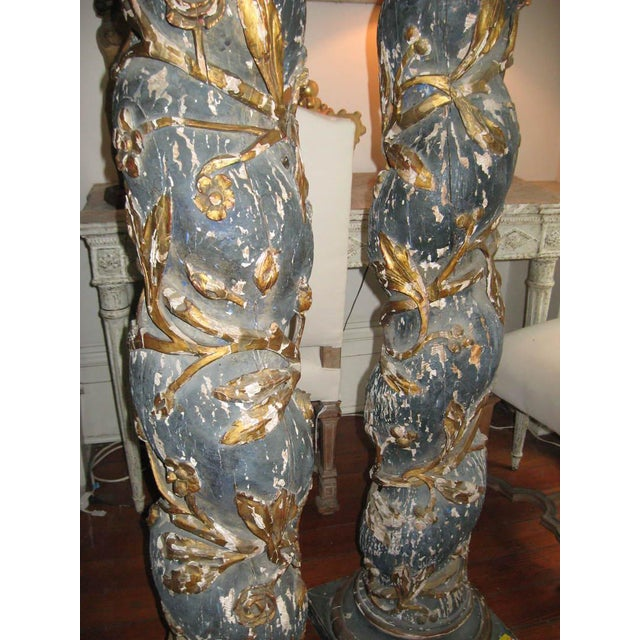 Gray Pair of 17th Century Columns For Sale - Image 8 of 12