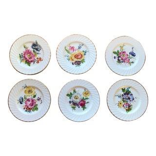 English Bouquet Luncheon Dessert Plates - Set of 6
