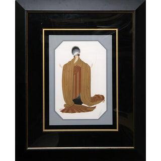 """Erté, """"Lady Unraveling"""", Art Deco Screenprint For Sale"""