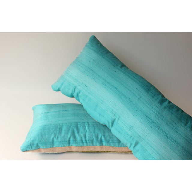 Abstract Floral Crewel Pillows - Pair - Image 6 of 6