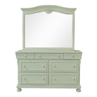 Lexington White Painted Dresser W. Mirror For Sale