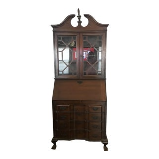 Antique Chippendale Mahogany Secretary