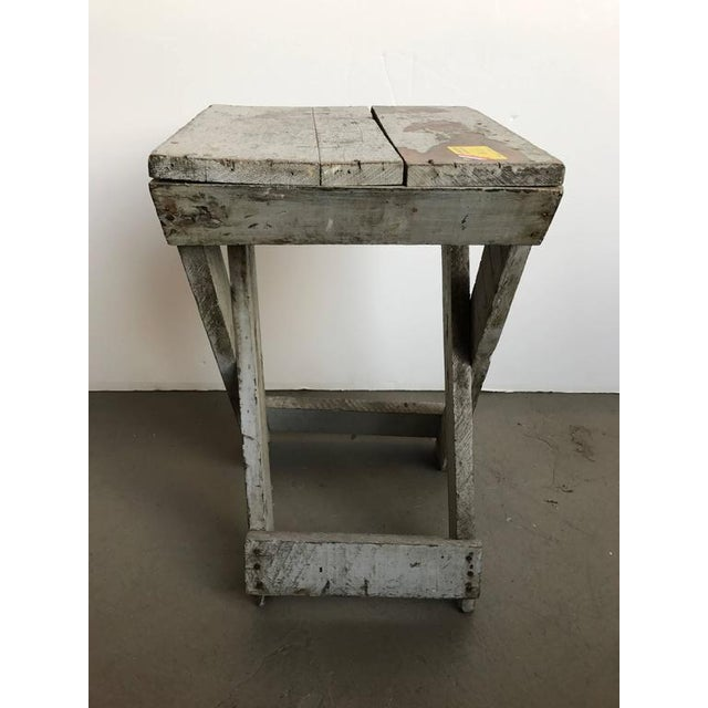 Rustic 19th Century Rustic Painted Side Table For Sale - Image 3 of 5