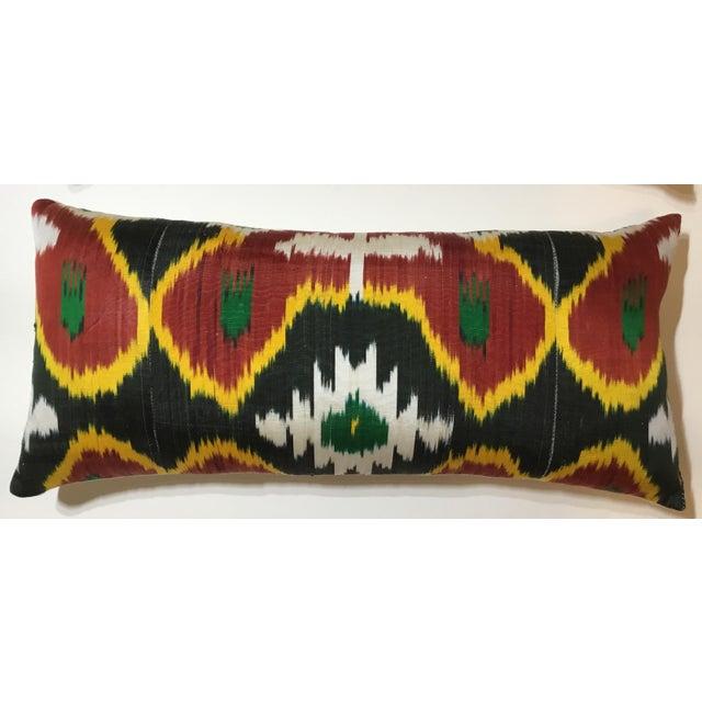Silk Ikat Lumbar Pillows - a Pair For Sale - Image 4 of 13