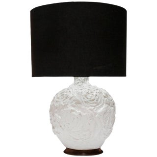 Raw Molded Plaster Organic Table Lamp For Sale