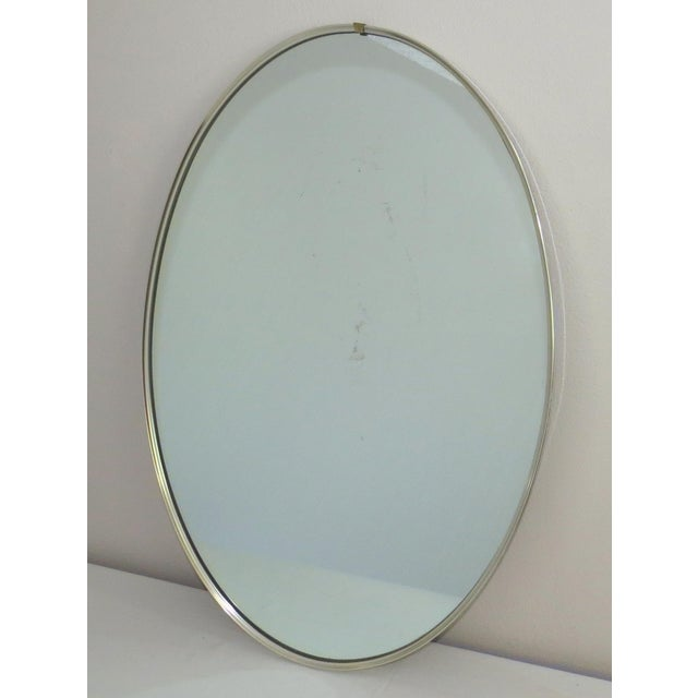 Mid-Century Modern Turner Mfg. Oval Chrome Mirror For Sale - Image 13 of 13