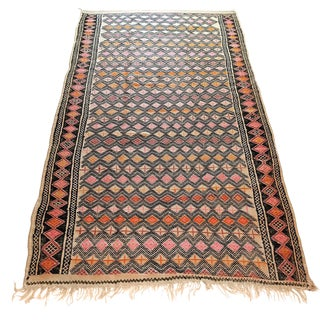 1980s Moroccan Tribal Rug - 5′6″ × 10′2″ For Sale
