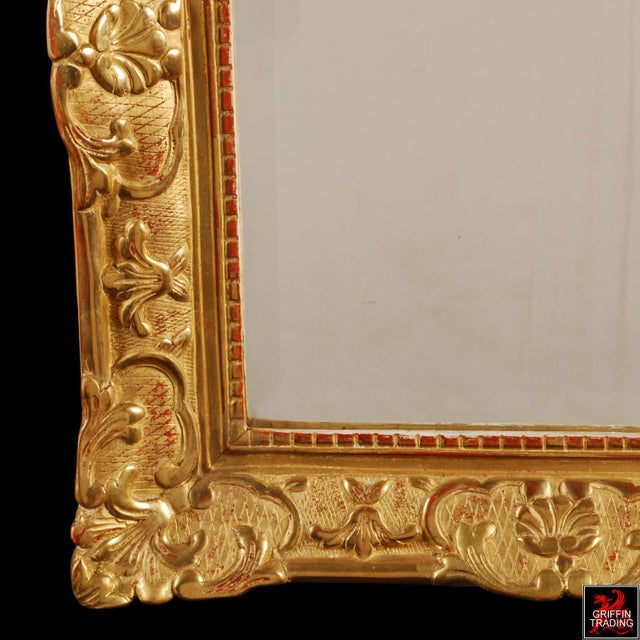 Gold Superb French Regency Period Giltwood Wall Mirror For Sale - Image 8 of 12
