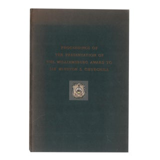 """1957 """"Presentation of the Williamsburg Award"""" Coffee Table Book For Sale"""